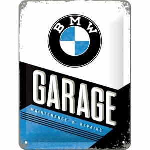 Retro skilt 15x20cm. BMW Garage