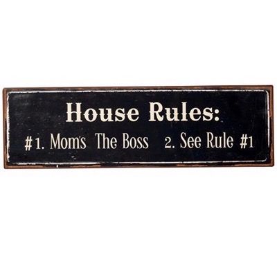 House Rules - Emaljeskilt