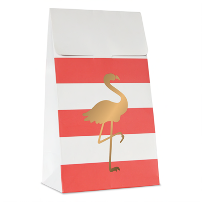Treat bags Coral med flamingo